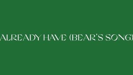 Kim Walker-Smith - Already Have (Bear's Song)