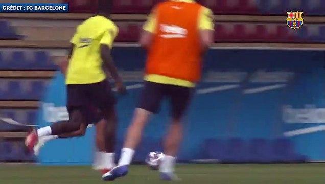 Ousmane Dembélé en feu à l'entraînement du Barça