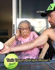 Ufak bir numarayla tontiş büyükannesini büyüleyen eleman