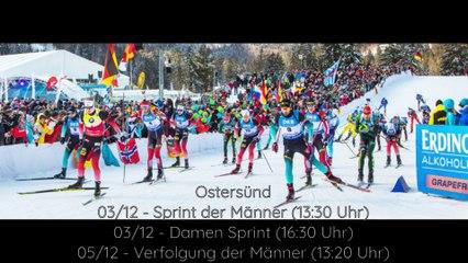 Biathlon der Kalender für die Saison 2020 - 2021