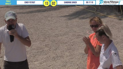 Finale du tête-à-tête Cindy PEYROT vs Sandrine GINIER : Palavas pétanque 2020
