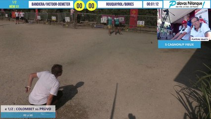 Demi-finale du doublette C. BANDIERA/VICTOOR-DEMETER vs V ROUQUAYROL/A BORIES : Palavas pétanque 2020