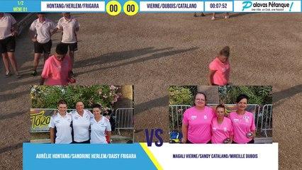 Demi-finale du triplette HONTANG/HERLEM/FRIGARA vs VIERNE/DUBOIS/CATALANO : Palavas pétanque 2020