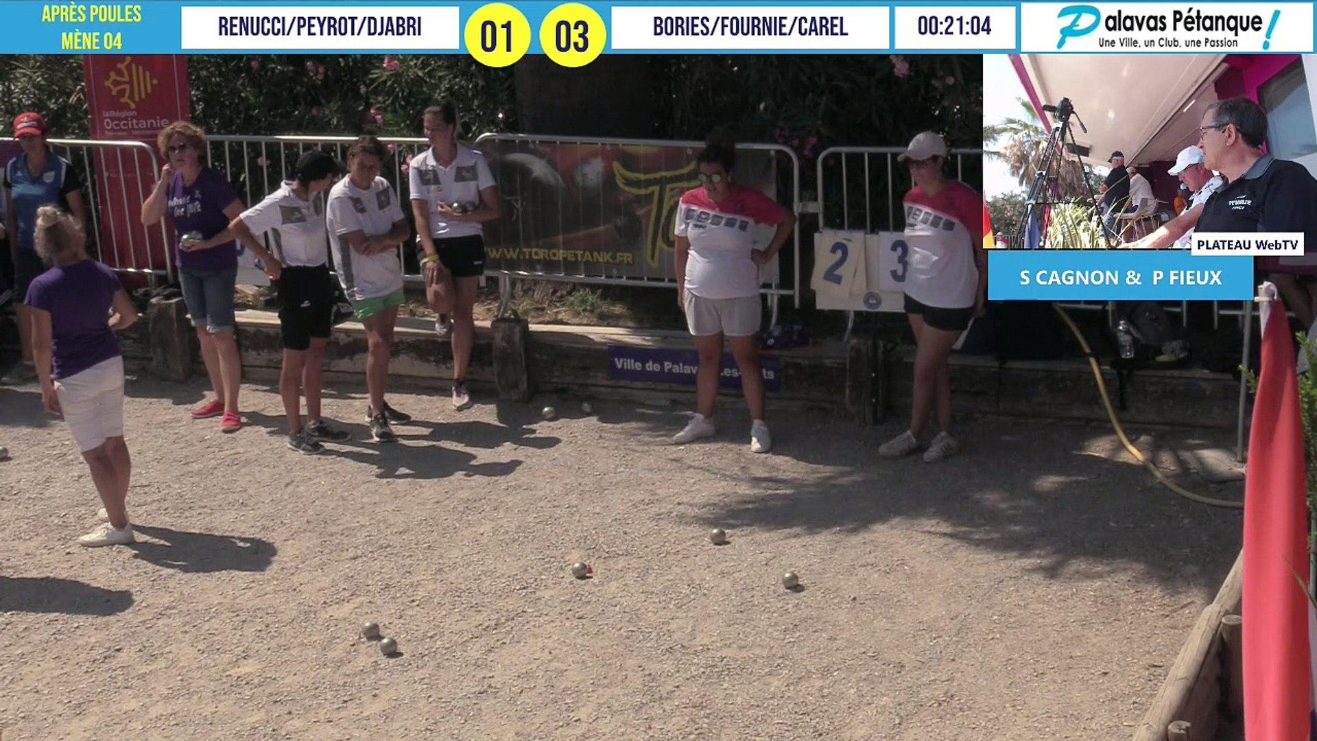 Après poules triplette PEYROT vs BORIES : Palavas pétanque 2020