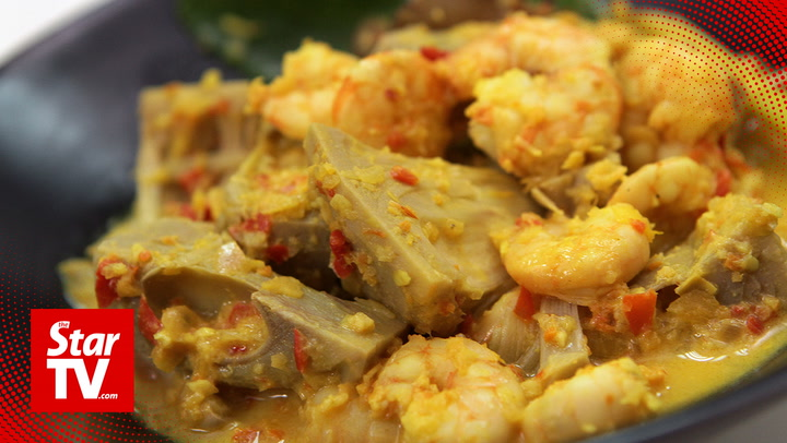 Retro Recipe: Jackfruit Prawn Curry