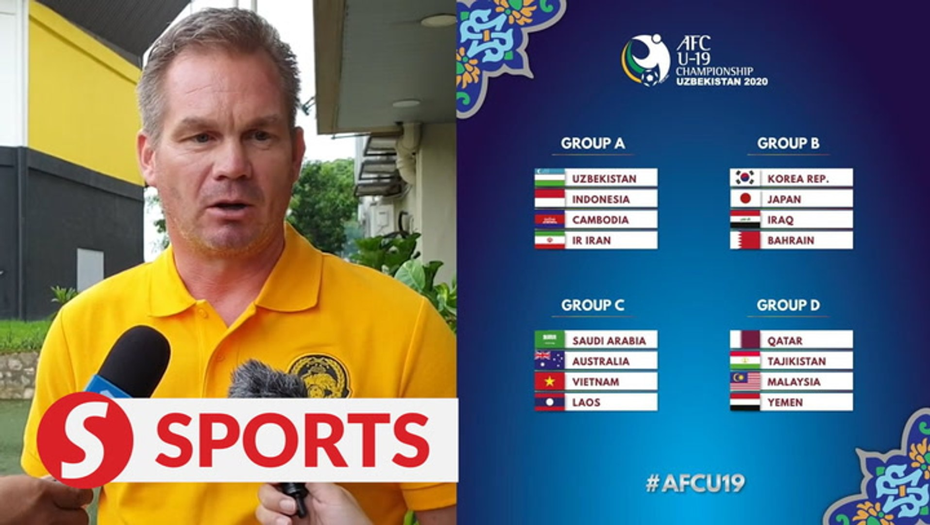 Malaysia in for a tricky ride in the AFC Under-19 Championship, says coach Maloney