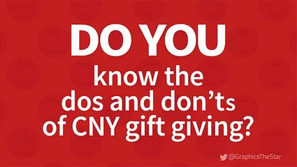 Do you know ... the do's and don'ts of CNY gift-giving?