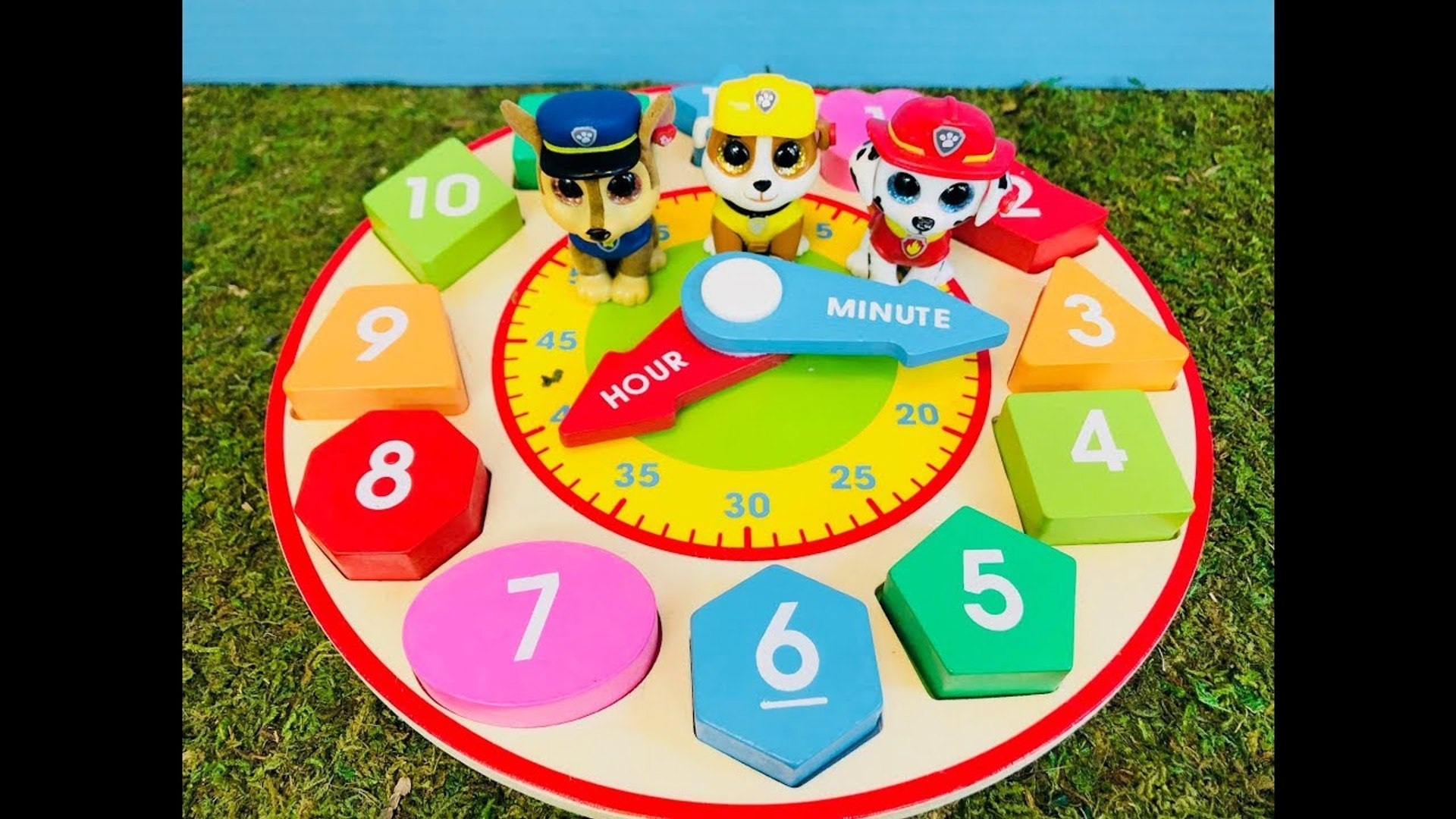 PAW PATROL Toys Daily Routine Learning Time On Wooden Clock-