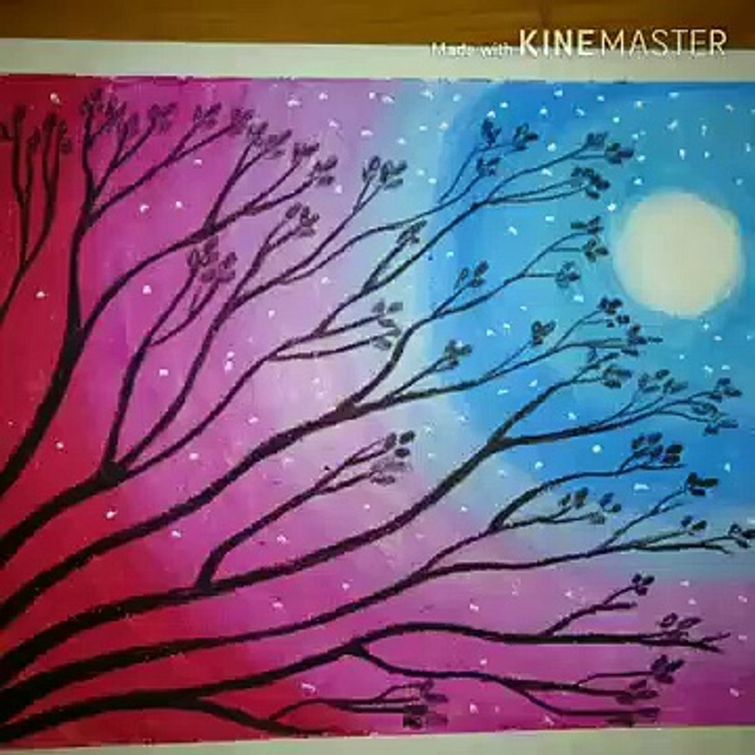 Oil Pastel Sunset Painting Easy Step By Step Video Dailymotion