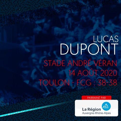 Video : Video - L'essai de Lucas Dupont contre Toulon, saison 2020-2021