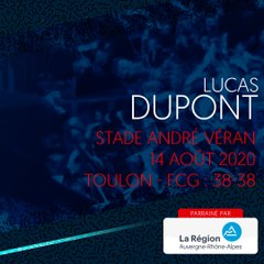 L'essai de Lucas Dupont contre Toulon, saison 2020-2021