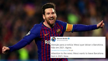 Lionel Messi Wants Out Of Barcelona Now, Not In 2021