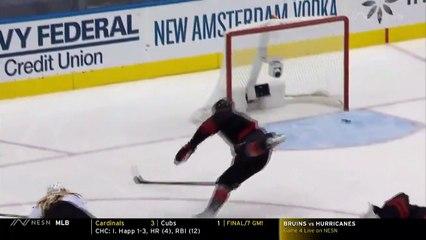 Bruins Highlight: Jake DeBrusk Gets Bruins On Board Vs. Hurricanes With Breakaway Goal