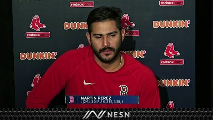 Martin Perez Reacts To Red Sox's Monday Night Loss To Yankees