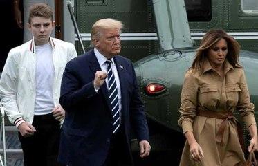 Melania hace nuevo desplante a Donald Trump: rechaza su mano ¡otra vez!