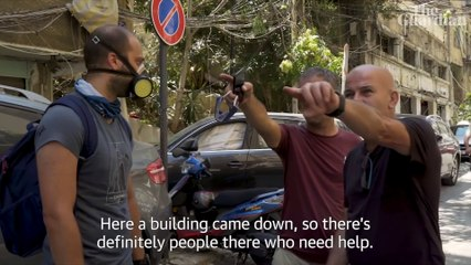 Beirut explosion: the volunteer clearing up the wreckage of her home city – video
