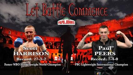FULL FIGHT - Scott Harrison Vs Paul Peers - LET BATTLE COMMENCE  18th July 2020