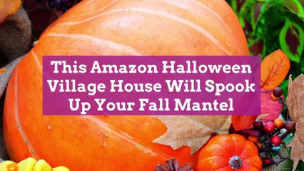 This Amazon Halloween Village House Will Spook Up Your Fall Mantel