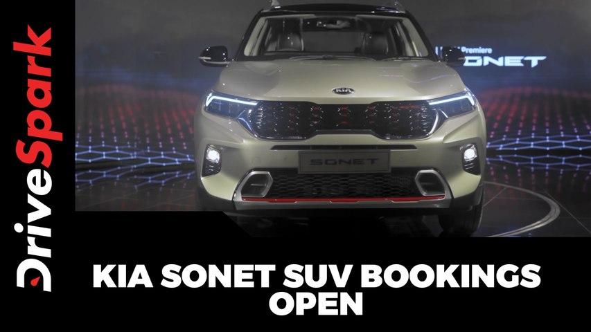 Kia Sonet SUV Bookings Open