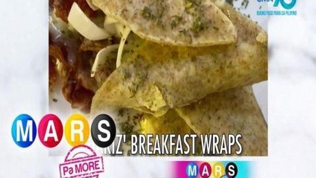 Mars Pa More: Chariz Solomon makes a tortilla breakfast wraps | Mars Masarap