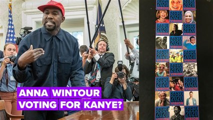 Kanye West uses Anna Wintour & Kirsten Dunst in confusing campaign collage