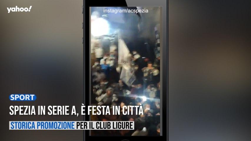 Spezia in Serie A, è festa in città