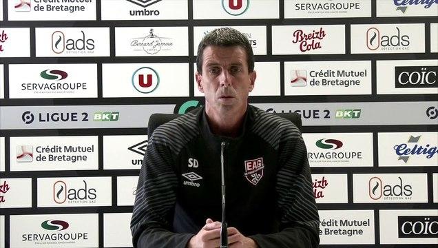 2020-21  Ligue 2   EAG-NIORT J1  le point presse de Sylvain DIDOT