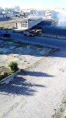 Andria: incendio via Spallanzani angolo Noccolò Tartaglia