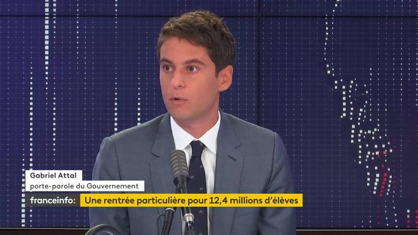 """Congé parental, port du masque en entreprise... le """"8h30 franceinfo"""" de Gabriel Attal"""