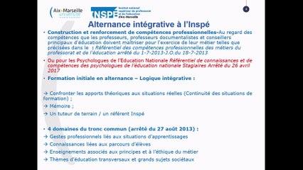 Formation Inspé des Fonctionnaires stagiaires 2020-2021
