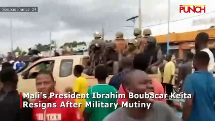 Mali's president, Ibrahim Boubacar Keita resigns after military mutiny/PUNCH