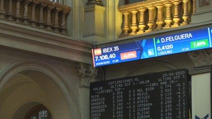 El Ibex 35 cae un 0,01 % y termina en los 7.108 puntos