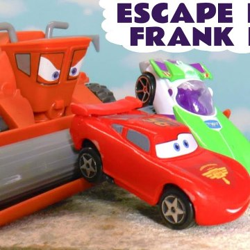 Disney Cars Lightning McQueen Escape from Frank with Hot Wheels Marvel Avengers and PJ Masks plus the Paw Patrol in this Family Friendly Full Episode English Race Toy Story for Kids