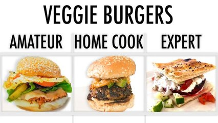 4 Levels of Veggie Burgers: Amateur to Food Scientist