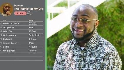 Davido Creates the Playlist of His Life