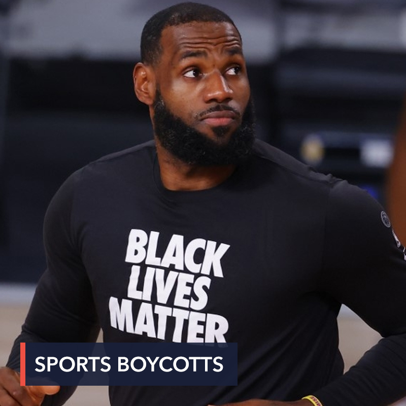 NBA walkout sparks historic US sports boycott over police shooting