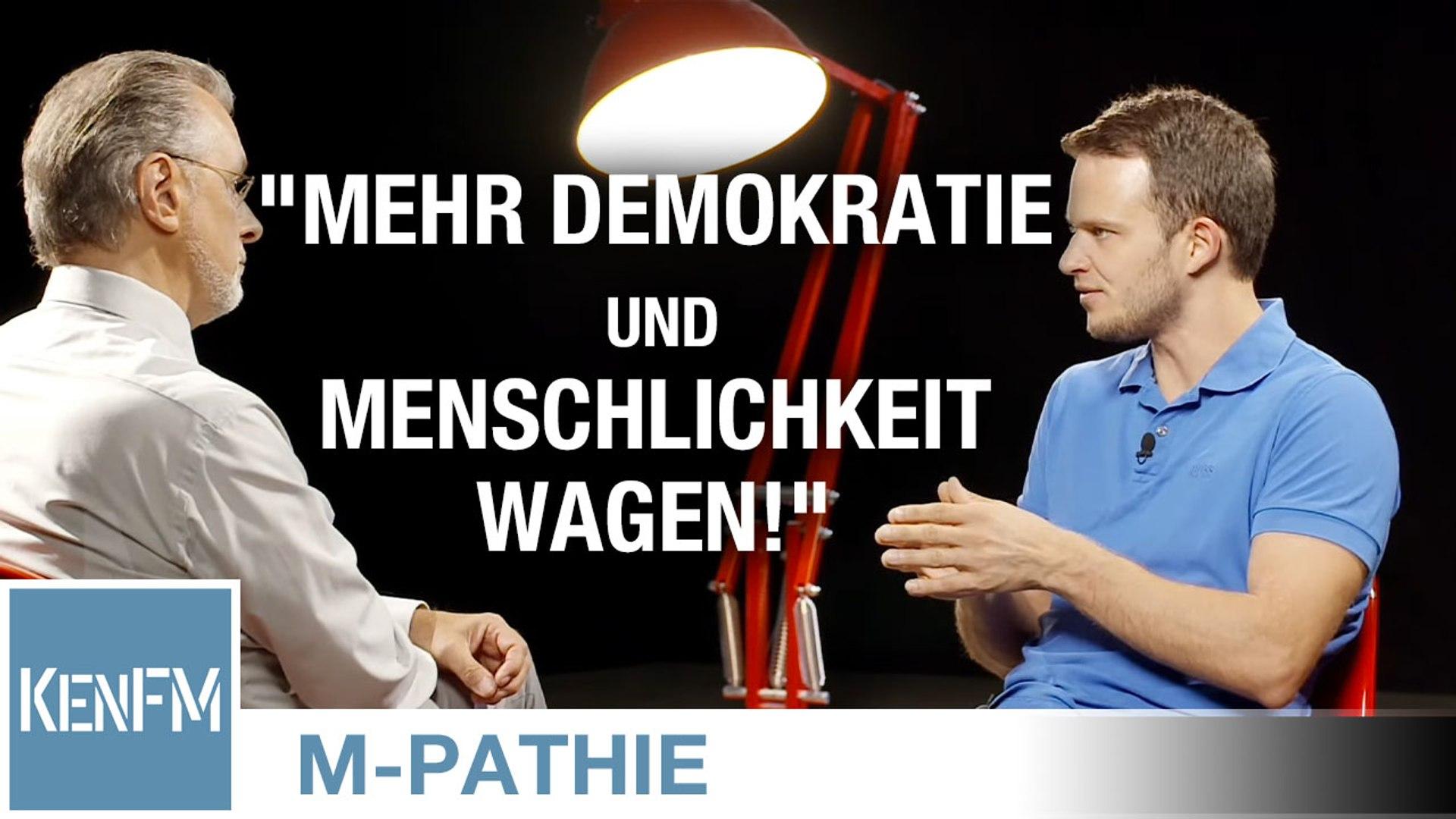 """M-PATHIE – Zu Gast heute: Markus Haintz und Friederike Pfeiffer-de Bruin – """"Mehr Demokratie und Mens"""