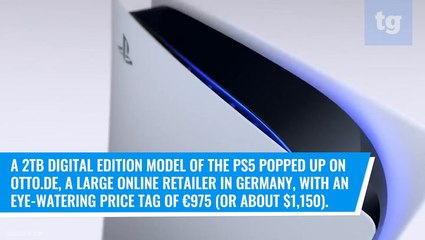 PS5 2TB model just leaked — with a crazy high price tag