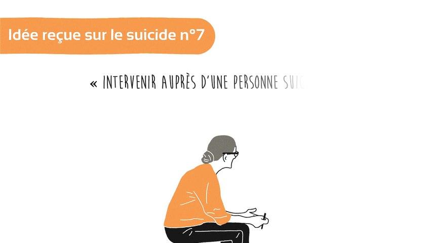 Idée reçue sur le suicide n°7: intervenir auprès d'une personne suicidaire est une affaire de spécialiste