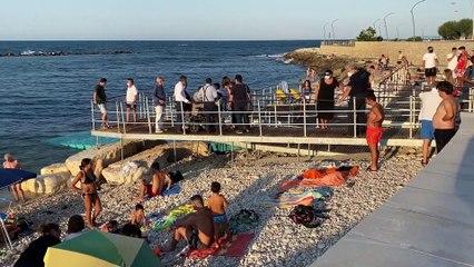 Puglia: anche a Bisceglie spiaggia libera attrezzata per disabili - VIDEO