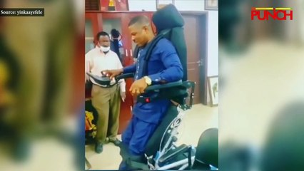 Yinka Ayefele Gets Standing Wheelchair Gift/punch