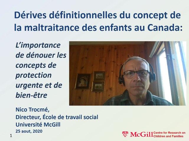 Commission de lutte contre la maltraitance et de promotion de la bientraitance - Vidéo d'expert Nico Trocmé