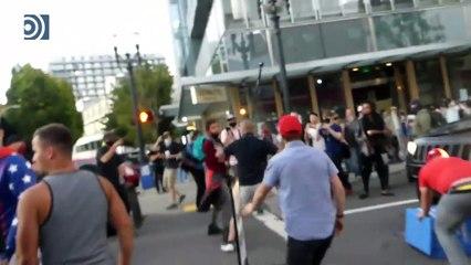 Graves disturbios y peleas entre manifestantes en Portland