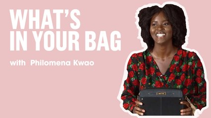 Model Philomena Kwao Shares Her Makeup Essentials   What's In Your Bag