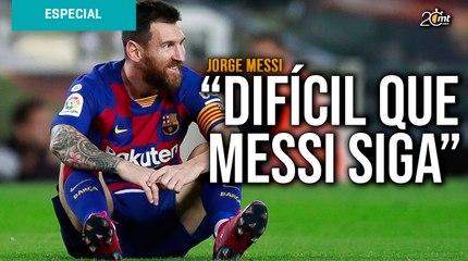 Difícil que Messi siga en el Barcelona: Jorge Messi