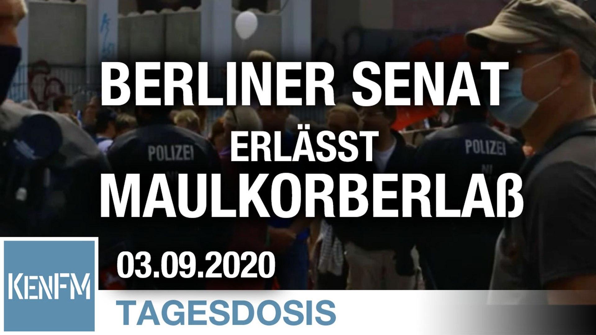 Berliner Senat erlässt Maulkorberlaß | Von Bernhard Loyen
