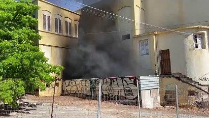 Incendio en el parque Viera y Clavijo