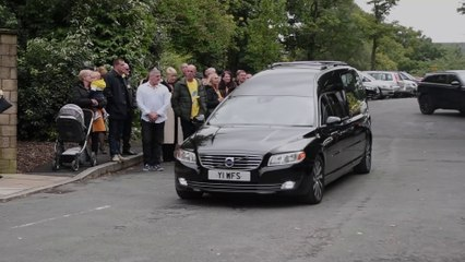 Nikki Sawley's funeral at Burnley crematorium