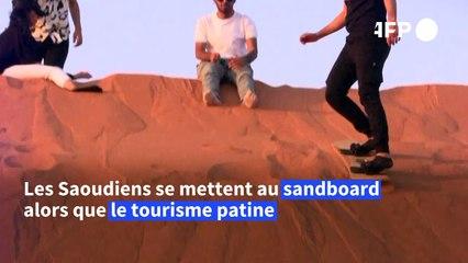 Le sandboarding stimule le tourisme local saoudien par temps de pandémie