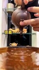 Bonne et mauvaise théière chinoise